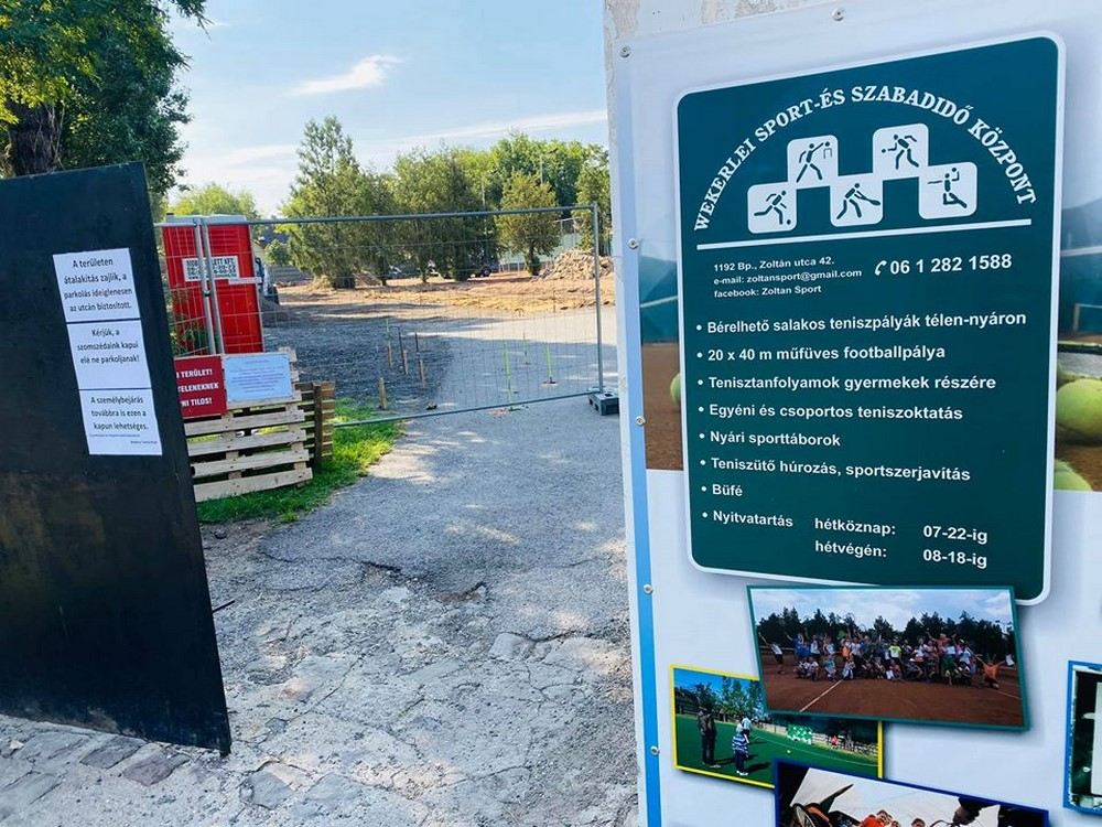 Megkezdődött az építkezés a wekerlei sporttelepen